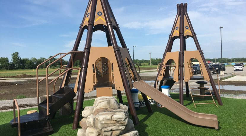 Rest Up Camping & RV Corral Playground in Grayville, IL